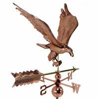 Copper Polished eagle Weathervane Weather Vane Roof bracket Mounting Hardware