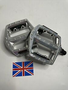 """New Alloy DX Type Pedals MTB BMX Silver 9/16"""" Mountain Bike Cycle"""