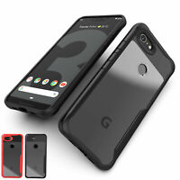 For Google Pixel 5 3a Pixel 3 4a XL Shockproof Slim Bumper Clear Hard Case Cover