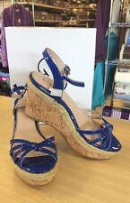 G.I.L.I. Royal Blue Size 9.5M Sunday Leather Platform Wedge Sandals - NEW!