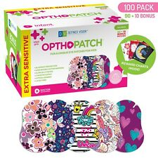 Infants Extra Sensitive Adhesive Eye Patch Girls 100 Pack Series II OPTHOPATCH