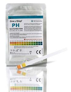 100 One+Step pH Test Teststreifen für Urin UND Speichel zur Ermittlung ph Wert
