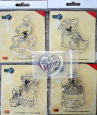 5 Clear stamps (stempels)