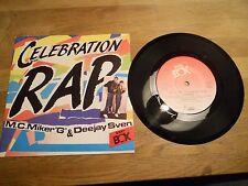 M.C.MIKER G & DEEJAY SVEN CELEBRATION RAP/PLAY IT LOUD SWEDISH 1986 BEAT BOX OOP