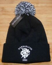BARBARIANS RUGBY-Quality Snowstorm Bobble Hat-Brand NEW Embroidered-BLACK