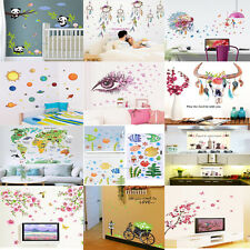 Flower Birds Quote Removable Art Vinyl Wall Stickers Decal Mural Home Decor DIY
