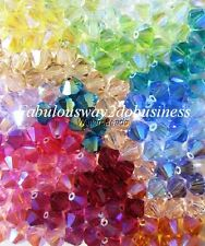 Small Crystal Beads SWAROVSKI # 5328 4 MM Assorted Colors (200 Beads)