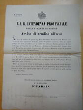 1859-AVVISO DI VENDITA ALL'ASTA-MONASTERO DELLE MUNEGHETTE DI ROVIGO