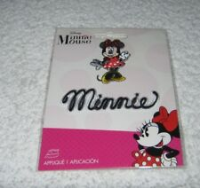 """Wilton- Iron On Patch - Disney - Minnie Mouse and Word """"Minnie"""" - New Package"""