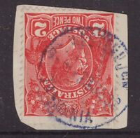 Tasmania WESTERN JUNCTION violet 1932 postmark on KGV piece