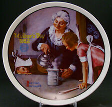 """Norman Rockwell Collector Plate """"The Cooking Lesson"""" ~ Mothers Day 1982"""