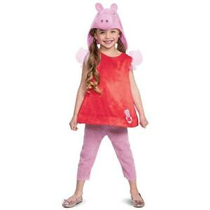 Peppa Pig Classic Girls size L 4/6X Official Nick Jr Character Costume Disguise