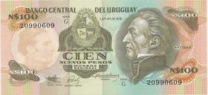 Uruguay Billet 100 Nuevos Pesos type 1988-89