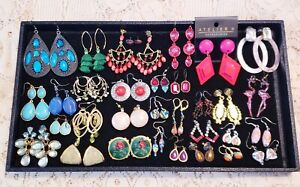 32 Piece Colorful Mixed Style Pierced Earring Lot - Avon, 1928