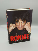 Rolling Stones Ronnie Wood Autobiography hand signed by Ronnie-Doodle Sketch