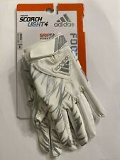 Adidas Scorch Light 4 Football Gloves White/Silver Griptack Size Youth Small S