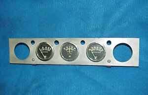 VINTAGE STEWART WARNER CHROME 5 GAUGE PANEL OIL AMP GASSER RAT HOT ROD