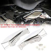 2x Motorrad Mid-Frame Luftabweiser Hitzeschutz Air deflector für Harley Touring
