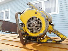 Antique McCULLOCH MODEL 47 Chainsaw 33LB BEAST! Vintage W/Bar Good Spark 110PSI
