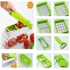 12pcs Super Slicer Plus Vegetable Fruit Peeler Dicer Cutter Chopper Nicer Grater