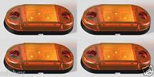 4 x Orange 12V 24V Seitenmarkierungsleuchten Lkw-anhänger Wohnwagen Für Scania