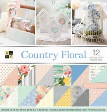 "American Crafts DCWV 12"" x 12"" Country Floral Cardstock Pack - 36 Sheets"