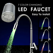 LED Water Faucet Stream 7 Colors Light Changing Glow Shower Stream Tap USA Stock