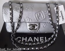 CHANEL Perfume 5 CC Flower Clover Icons Lucky Charms Iconic Leather Flap Bag NWT