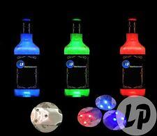lot de 10 pastille lumineuse LED adhésive pour bouteille ou verre coloris ROUGE