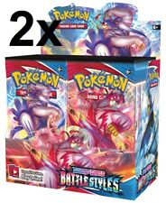 2 Pokemon Battle Styles Booster Box Display TCG Sword & Shield SWSH5