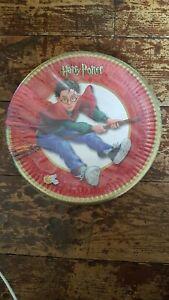 Harry Potter Vintage Quidditch Paper Plates New Sealed Merchandise