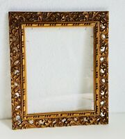 "15"" Antique Frame Italian Florentine Frame Gold Gilt Giltwood Wood Louis Rococo"