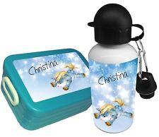 Brotdose EINHORN Rosti Mepal mit Name Gemüsefach Trinkflasche Brotbox Lunchbox