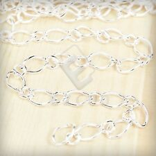 2M Iron Curb Chain Unfinished Chains Necklace Jewelry Making DIY 9x5.5/5.5x4mm