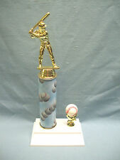 """baseball trophy clouds and balls award color ball trim marble 12"""""""