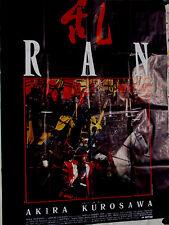 Ran 1985 Akira Kurosawa Original French Movie Poster 47x63 NM Black Art