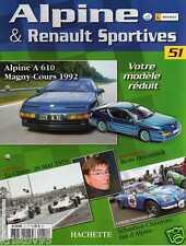 FASCICULE BOOKLET ALPINERENAULT A610 MAGNY COURS 1992 N° 51 SANS LA MINIATURE