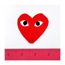 Skateboard Car Window Bumper PVC Laptop Clear Decal Sticker - Play Eye Heart Red