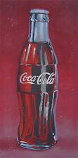 ORIGINAL PAINTING OF A COCA COLA COKE BOTTLE TEXTURED AND SIGNED BY ARTIST
