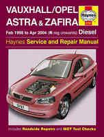 Vauxhall Astra Repair Manual Haynes Workshop Service Manual  1998-2004 3797