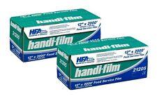 """Handi-Film 12""""x2000' Plastic Food Service Film Cling Wrap 2 Rolls! - Hfa # 21205"""