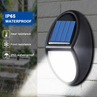 Outdoor Patio Lamp Waterproof IP65 10 LED 300LM Security Wall Light Solar Power