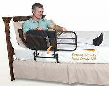 adjustable bed rail elderly safety guard bedrail secure assist