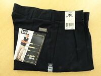 New Lee's Men's Casual Pants - Black or Navy - Waist size 29-50 Length 29-34