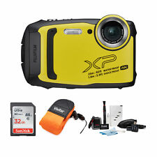 Fujifilm FinePix XP140 Digital Camera, Yellow  & Accessory Bundle