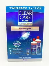 Clear Care Plus Cleaning and Disinfecting Solution with Lens Case, Twin Pack,