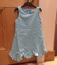 Joules Dress, Blue Party Dress, Age 5, Cotton With Satin Lining, Exc Cond!