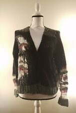 aritzia wilfred knit cardigan multi-color top size m