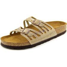 a0c78e9d808 Birkenstock Womens Granada Sandals Soft FB Tobacco 9288 US 7 7.5 - EU 38  Narrow