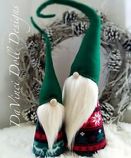 Nordic Christmas Gnomes HANDMADE Tomte  Nisse Woodland Elf Troll decorations